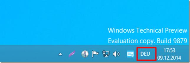 Screenshot WTP taskbar language