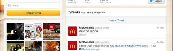 """Twitter-Account von Burger King (USA) wurde von """"McDonald's"""" gehackt"""