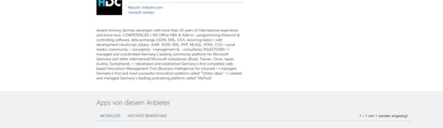 HDC im Microsoft Office Store gelistet